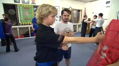 Instructor Max teaches the Wing Chun straight punch